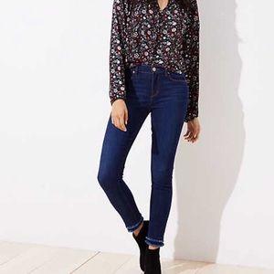 Loft double frayed modern skinny jeans 👖 6P